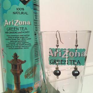 Arizona Green Tea Aluminum Can Earrings Handmade